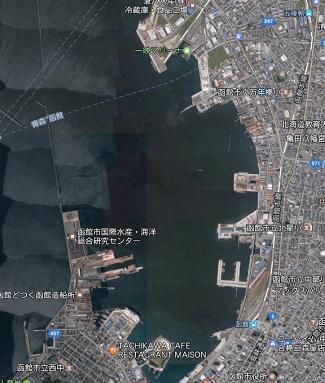 函館港一帯