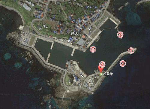 松前漁港のイカポイント