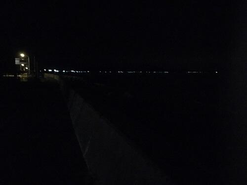 夜の木古内サーフ