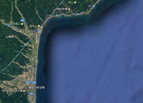 津軽海峡のサーフ