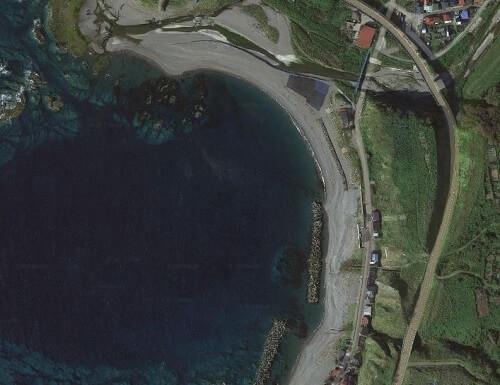 日本海のサーフ