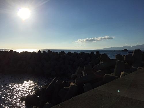 熊石方面の漁港
