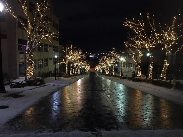雰囲気は最高だけど、道路状況は最悪な函館の冬。