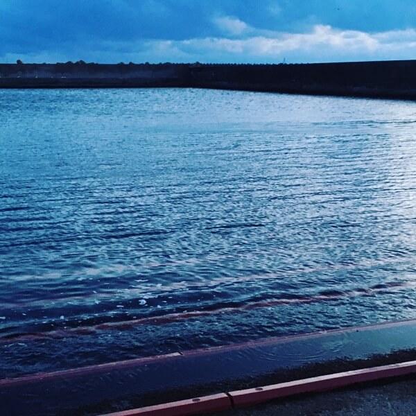 恵山の漁港の船揚場