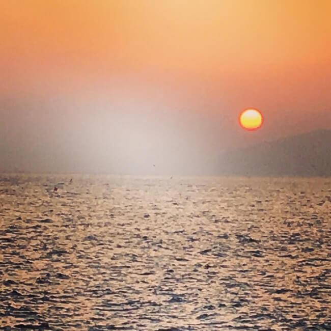函館の夕日