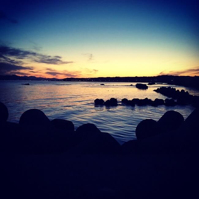 函館の綺麗な海