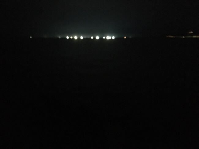 夜のサーフ