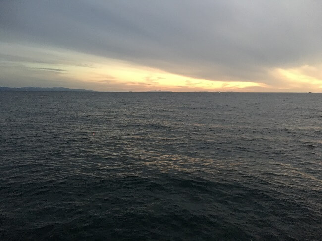 函館の海でアジング