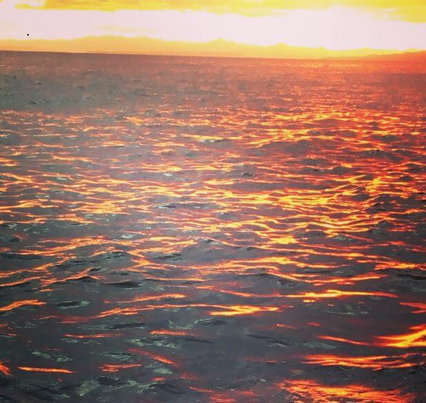 函館の綺麗な夕日