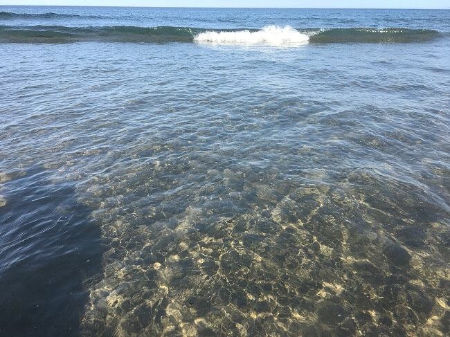 下海岸のサーフ