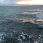 海にできたサラシを狙ってアイナメを釣る