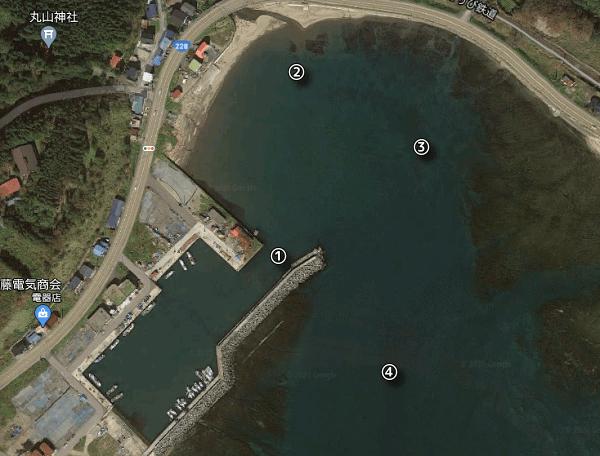 当別漁港の鮃ポイント