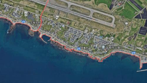 新湊方面のサクラマス回遊ルート