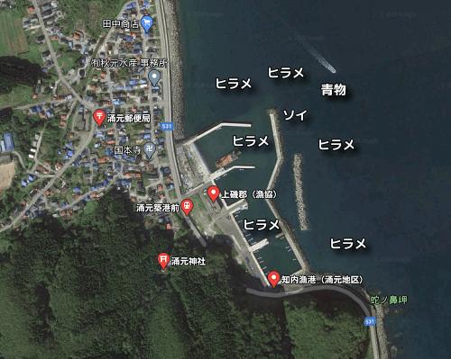 涌元漁港の釣りポイント