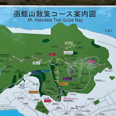 函館山登山道の看板