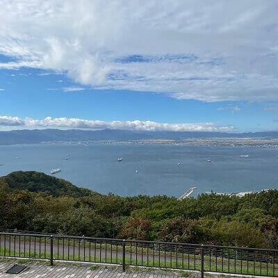 函館山の昼の海景色